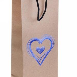 """Пакет крафт """"Синее сердце"""""""
